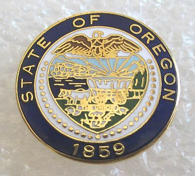 State of Oregon 1859 Coat-of-Arms Souvenir Collector Pin