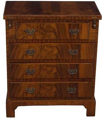 Antique Style Flip Top Nightstand Bedside Chest Bachelors Dresser Mahogany Wood