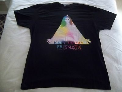 KATY PERRY-THE PRISMATIC WORLD TOUR Concert T-Shirt-2015-SIZE LARGE-Silkscreened