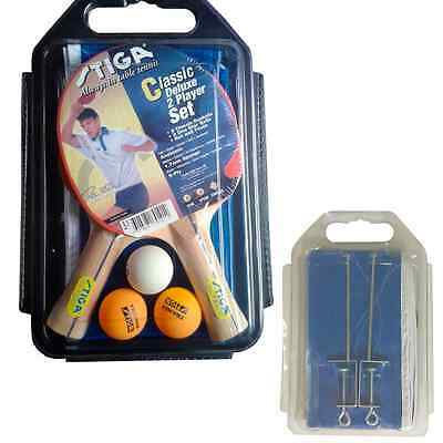 Stiga Classic Deluxe 2 player set Table Tennis with Net, 2 Rackets and 3 balls