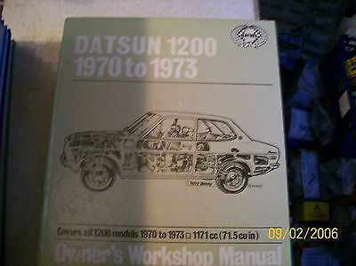 Haynes Manual For Datsun 1200 From 70 To 73