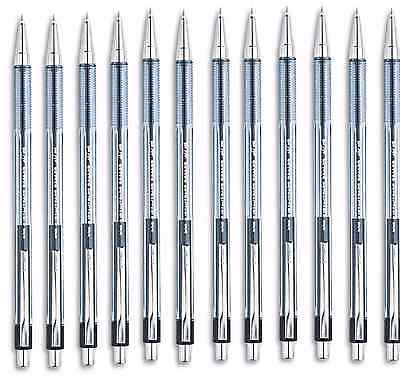 Pilot Better Ballpoint Retractable Pen Black Ink Fine 12 Pens Ribbed Finger Grip