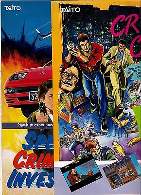 KIT FLYERS CRIME CITY, SPECIAL CRIMINAL INVESTIGATION by TAITO 1989