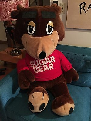 Huge 42 Inch Cereal Sugar Bear Golden Crisp Plush 1988 Vintage Toy. HUGE!!!!!