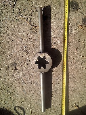 "HSS die nut with welded handle: size WF 1 5/8"" x 20. GOLIATH"