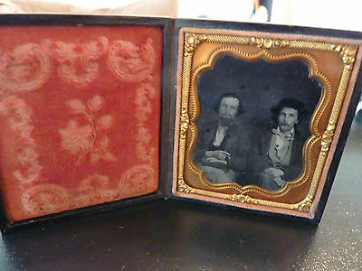 Sixth Plate Ambrotype Of The Walters Brothers-Gold Rush