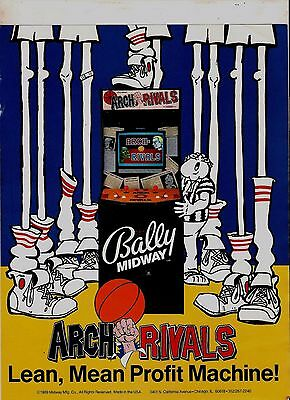 FLYER ARCH RIVALS by BALLY MIDWAY 1989