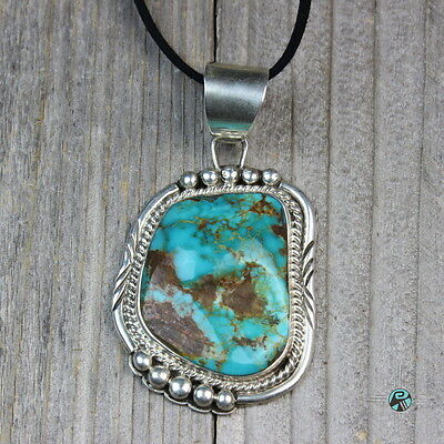 High Quality Green Royston Turquoise Pendant Sterling Silver by Highhorse