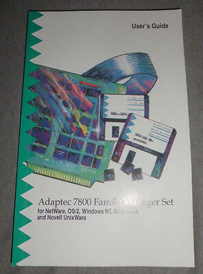 Adaptec 7800 Family Manager Set - User's Guide