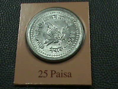 NEPAL    25  paisa    1989    BRILLIANT  UNCIRCULATED   ,   MINT  SET