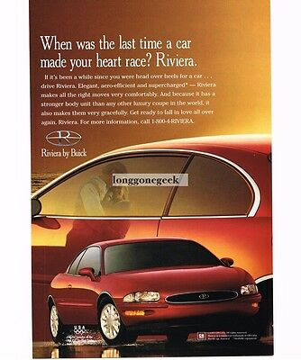 1996 Buick RIVIERA Red 2-door Coupe Vtg Print Ad