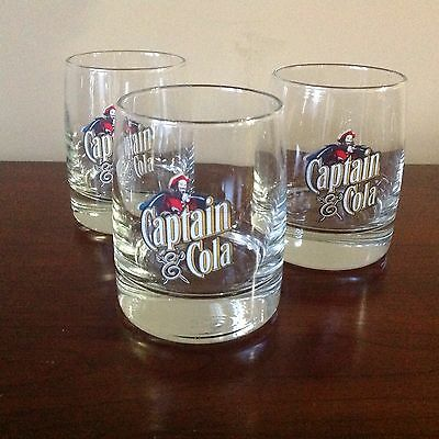 Captain Morgan Rum Old Fashioned Bar Glass Captain & Cola 12oz