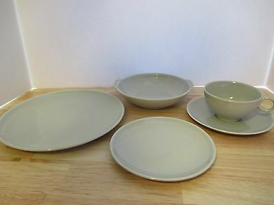 Universal Pottery Ballerina Pattern Oven Proof Made in USA Grey Dishes,