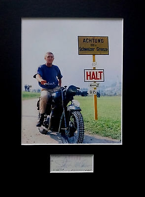 STEVE MCQUEEN signed autograph PHOTO DISPLAY The Great Escape