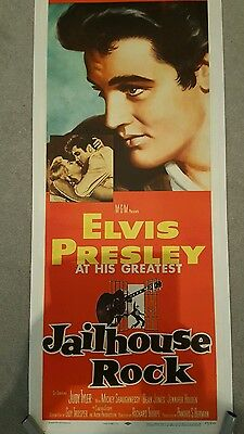 Elvis Presley JAILHOUSE ROCK Original 1957 LINEN BACKED USA POSTER