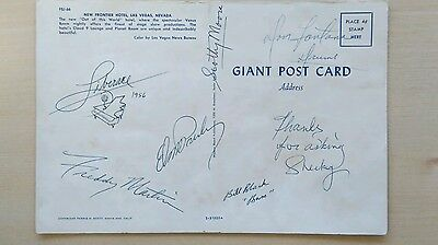 Elvis Presley 2X's Hand Signed 1956 Postcard,also Black,Moore & Fontana & MORE
