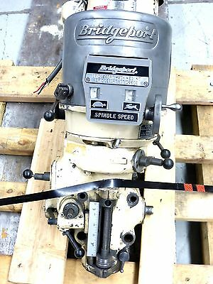 Bridgeport 2 HP Head 2J Vari Speed  R8 Spindle 220 Volt 3 phase