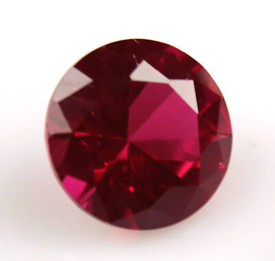 4.320 ct Created RED RUBY ROUND 10 X 10 x 6 mm