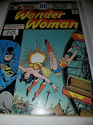 Wonder Woman #222 Readmitted to the JLA, Batman Cover (DC 1976) FN+