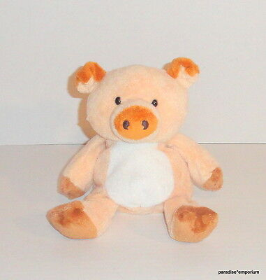 TY Pluffies Pig Plush Corkscrew Baby Lovey 2002 P44