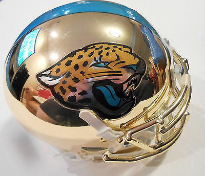 Jacksonville Jaguars Custom Gold Chrome Blake Bortles #5 Mini Helmet