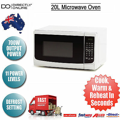 New 20L 700W White Microwave Oven Digital 11 Power Levels Electrical Appliance