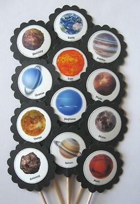 Solar System Cupcake Toppers/Party Picks Item #1488 Birthday