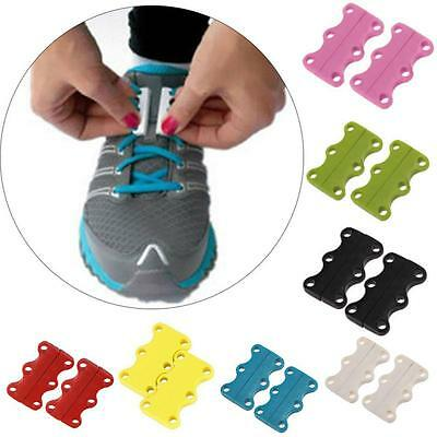 New DIY Lazy Shoelace Shoe Buckles Casual Magnetic Sneaker Hot Closure No-Tie B8