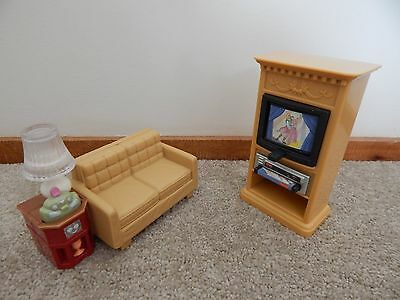 Fisher Price Loving Family Dollhouse Furniture Lounge With TV