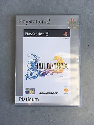Final Fantasy X 10 Platinum Edition Sony Playstation 2 PS2 Game Used PAL