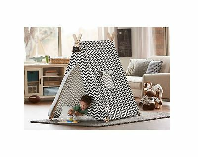 Kids Portable Indoor Imagination Pretend Play Tent Children Playhouse Fun Tepee