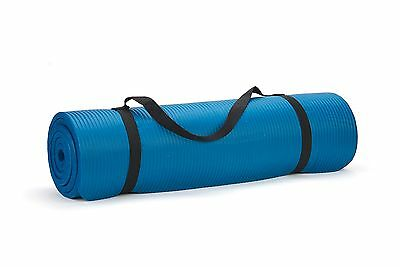 Trademark Innovations Premium Yoga Exercise Mat, Blue, 74-Inch
