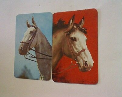 2 Single Swap/Playing Cards - Pair Horse  Heads (Blank Backs)