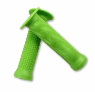 Evoke Flanged Grips - Green BMX with Flange Scooter Bike Grips
