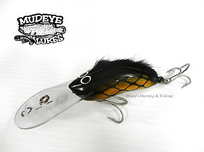 Timber Lure Mudeye Lures Mohawk Cod/Barra Lure 100mm col;Gold