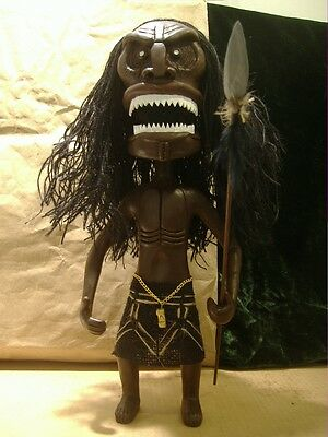 TRILOGY OF TERROR ZUNI DOLL WITH SCROLL 14 inches