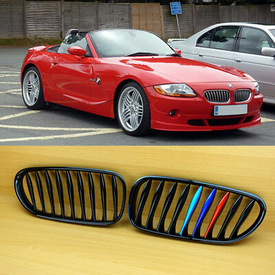 M-Color Shiny Black Metal Look Front Grille For BMW E85 E86 Z4 Coupe Convertible