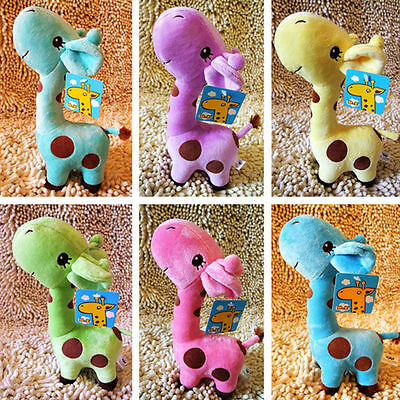 Cute Dotted Giraffe Plush Toys Baby Boys Girls Soft Animal Toy Children Gift New
