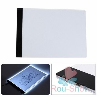 1 Set A4 LED Artist Thin Art Stencil Board Light Box Tracing Drawing Board【AU】
