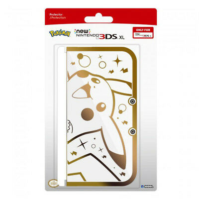 Pokemon Pikachu Premium Gold/Clear Protector Case for New Nintendo 3DS XL NEW