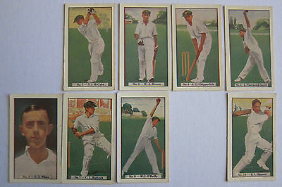 1930s Allens Cricketers Trade Cards Near Full Set 33/36