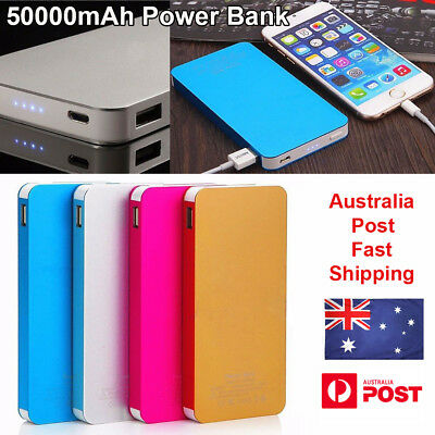 External Power Bank 50000mAh Dual USB Portable Battery Charger For Mobile Phone