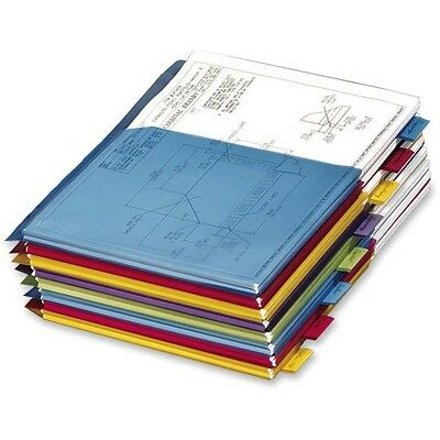 Cardinal Expanding Pocket Divider 84013 Multi Color Poly Tab Office Supply