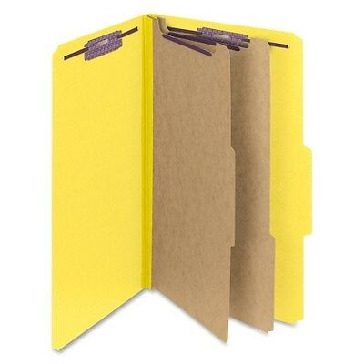 Smead 19034 Yellow Colored Pressboard Classification Folders with SafeSHI 19034