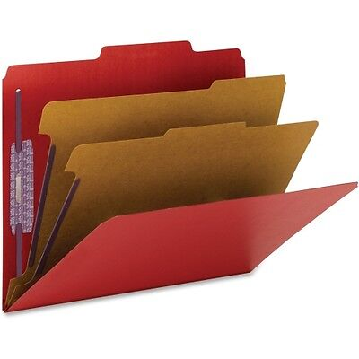 Smead 14031 Bright Red Colored Pressboard Classification Folders with Saf 14031