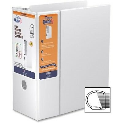 QuickFit Deluxe White Heavy-Duty File Binder 28070