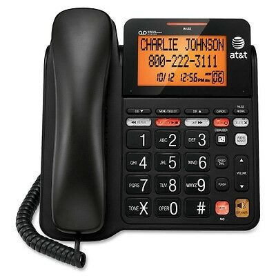 AT&T CL4940 Standard Phone Black CL4940BK W/ Jumbo Buttons & Backlight