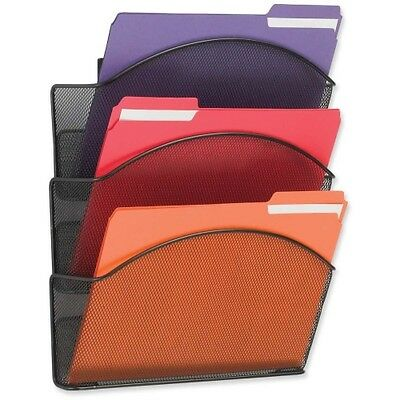 Safco Onyx Mesh Triple Letter Size Wall Pocket 5652BL