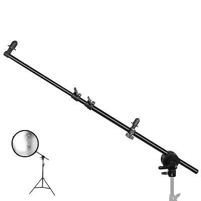 "PRO Studio Photo Holder Bracket Swivel Head Reflector Disc Arm Support 3.5""-59"""