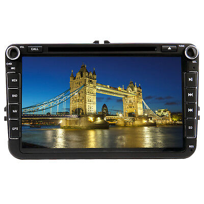 "UK 8"" Car Stereo DVD Player Radio GPS Sat Nav for VW Golf MK5 MK6 Skoda Seat EOS"